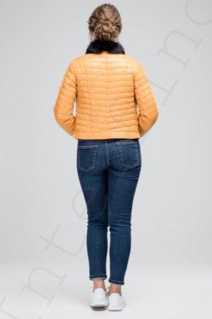 Куртка женская 23-2017 желтая сзади