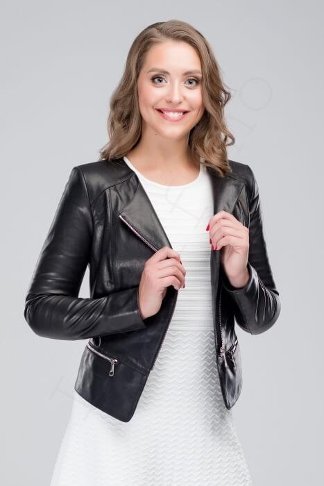 Куртка женская 23-2018 черная крупным планом