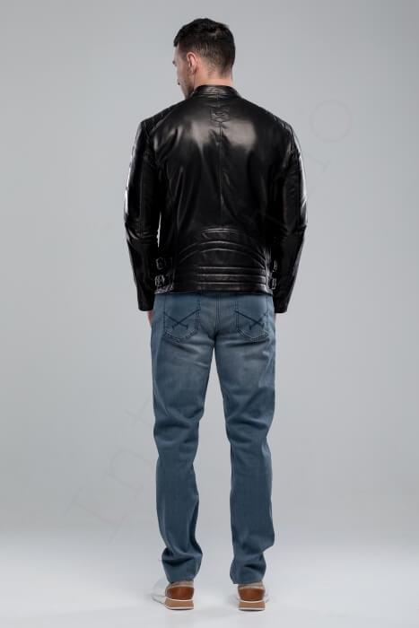Куртка кожаная мужская 63-2018 сзади