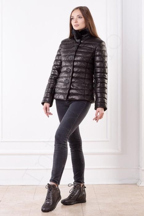 Женская куртка укороченная 40-2013