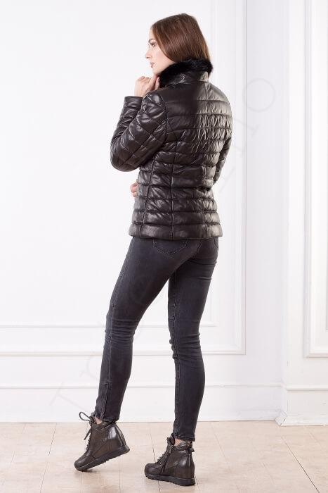 Женская куртка укороченная 40-2013 сбоку