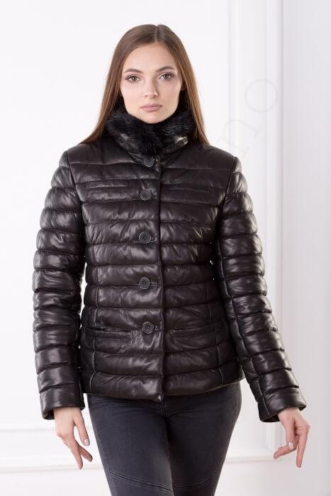 Женская куртка укороченная 40-2013 крупным планом