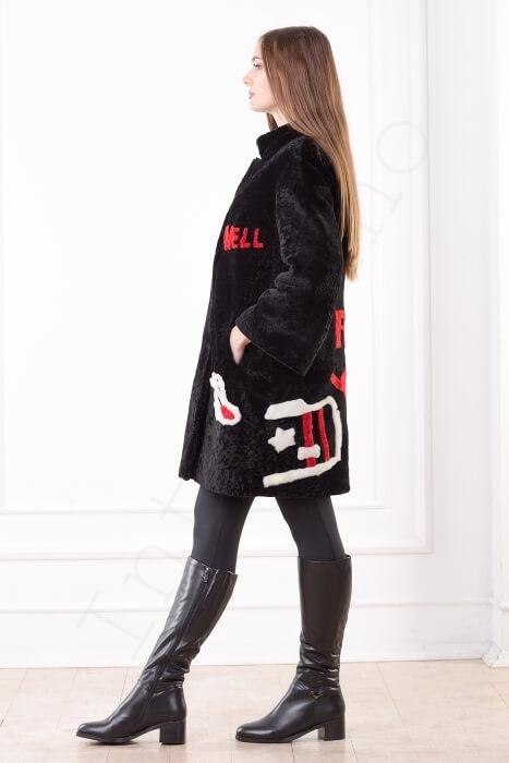 Пальто женское 200-2016 сбоку