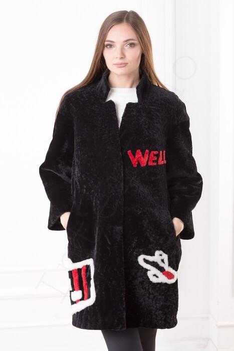 Пальто женское 200-2016 крупным планом