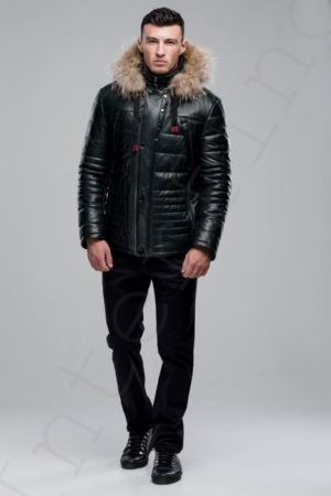 Куртка мужская 38-2018 темно-зеленая