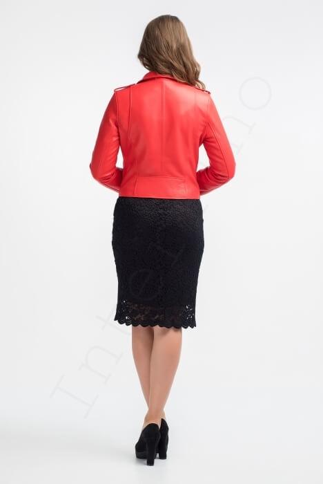 Куртка женская 28-2015 красная сзади