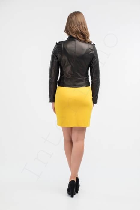 Куртка женская 28-2015 черная сзади