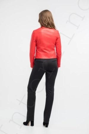 Куртка женская 26-2018 красная сзади