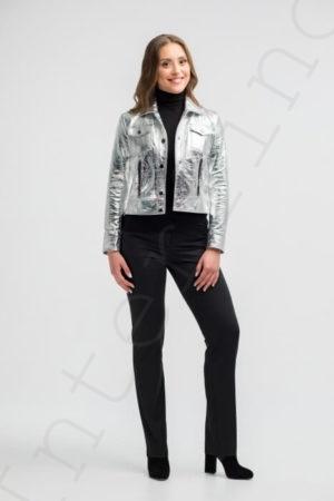 Куртка женская 26-2018 серебряная