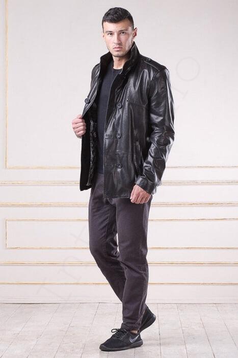 Куртка кожаная 79-2013 сбоку