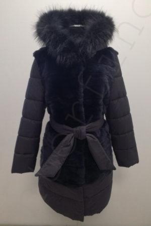 Зимний пуховик с кроликом 106-2018
