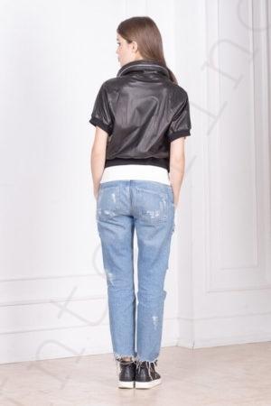 Куртка без рукавов 10-2010 черная сзади