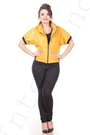 Куртка без рукавов 10-2010 желтая
