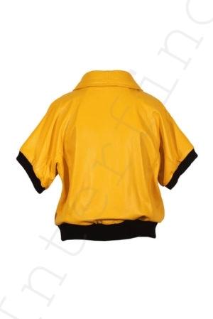 Куртка без рукавов 10-2010 желтая сзади