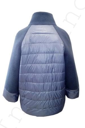 Комбинированная куртка 10-2019 голубая сзади
