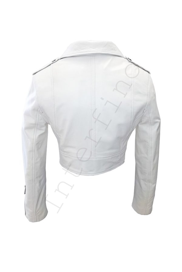 Куртка женская 68-2017 белая сзади
