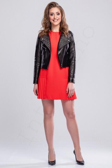 Короткая куртка со стеганным воротником 16-2013