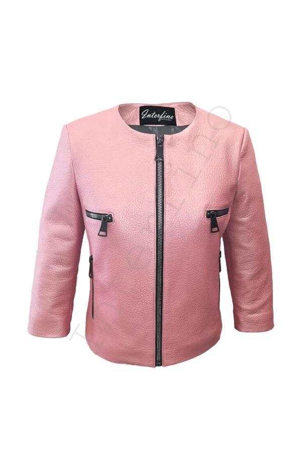 Куртка женская 53-2017 розовая