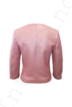Куртка женская 53-2017 розовая сзади