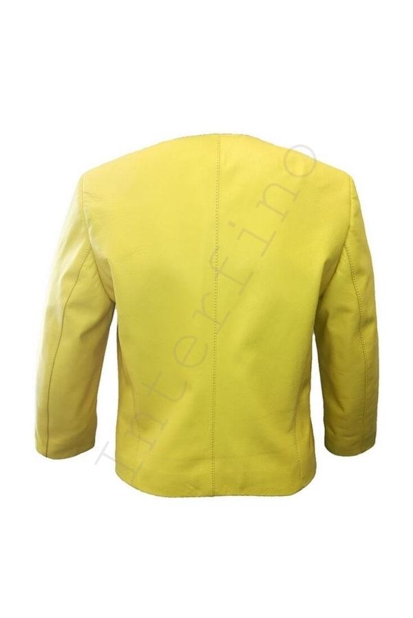 Куртка женская 53-2017 желтая сзади