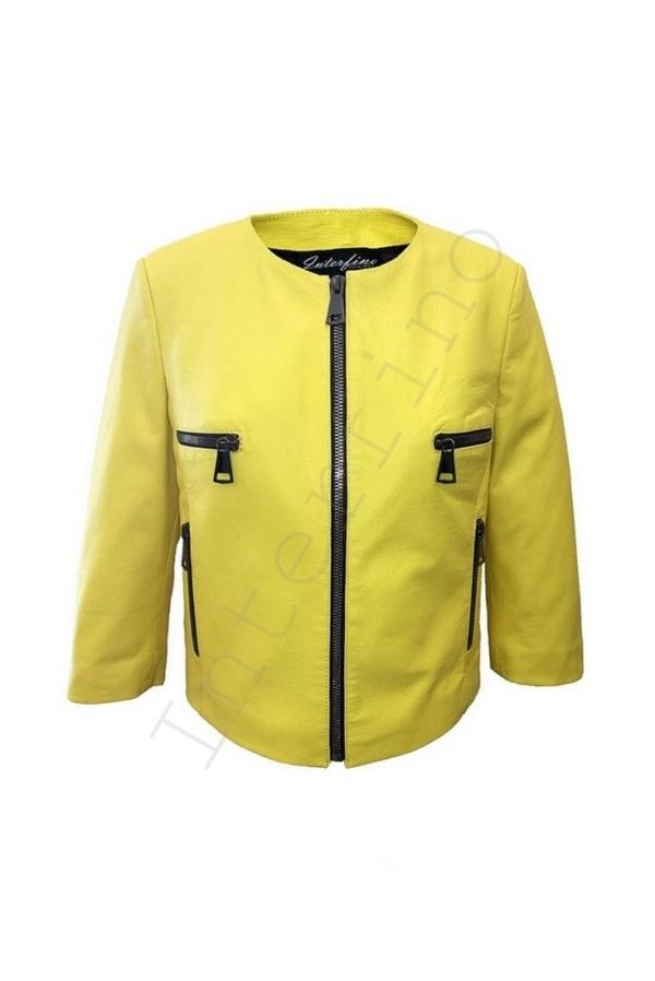 Куртка женская 53-2017 желтая
