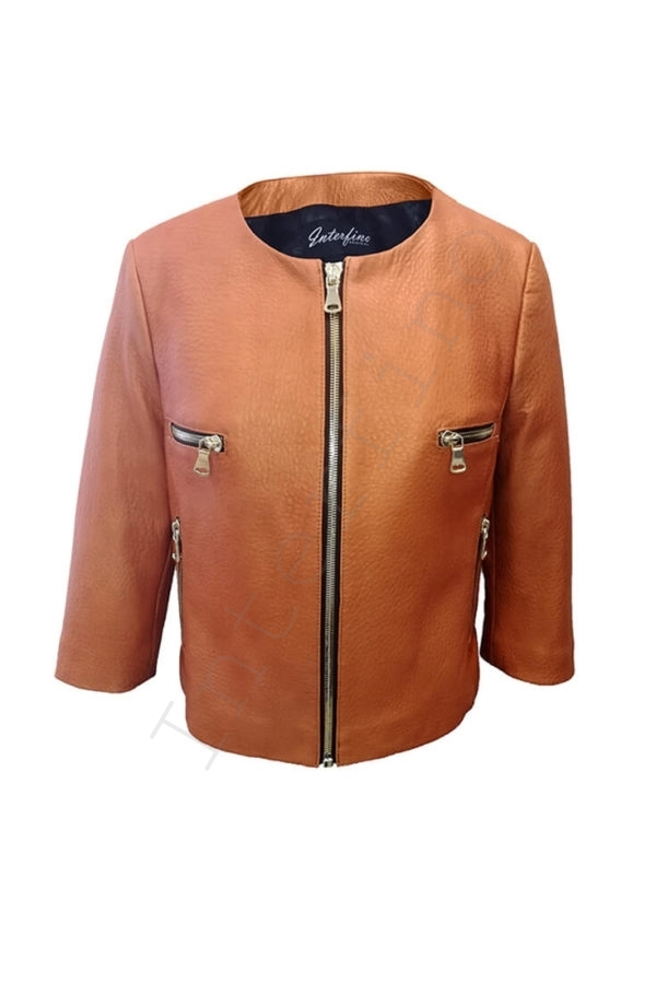 Куртка женская 53-2017 коричневая