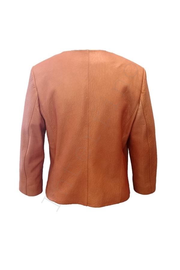 Куртка женская 53-2017 коричневая сзади