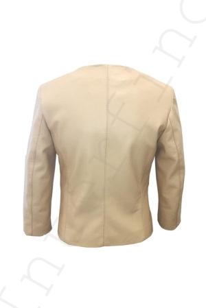 Куртка женская 53-2017 бежевая сзади