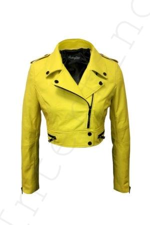 Куртка женская 68-2017 желтая