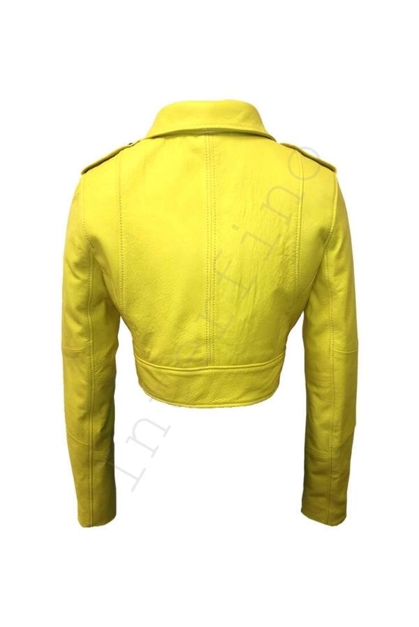 Куртка женская 68-2017 желтая сзади