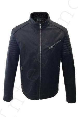 Мужская куртка из натуральной фактурной кожи 21-2018