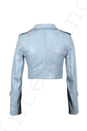 Куртка женская 68-2017 голубая сзади