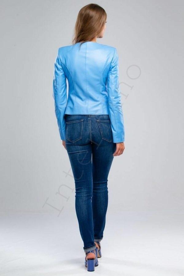 Куртка женская 23-2018 васильковая сзади